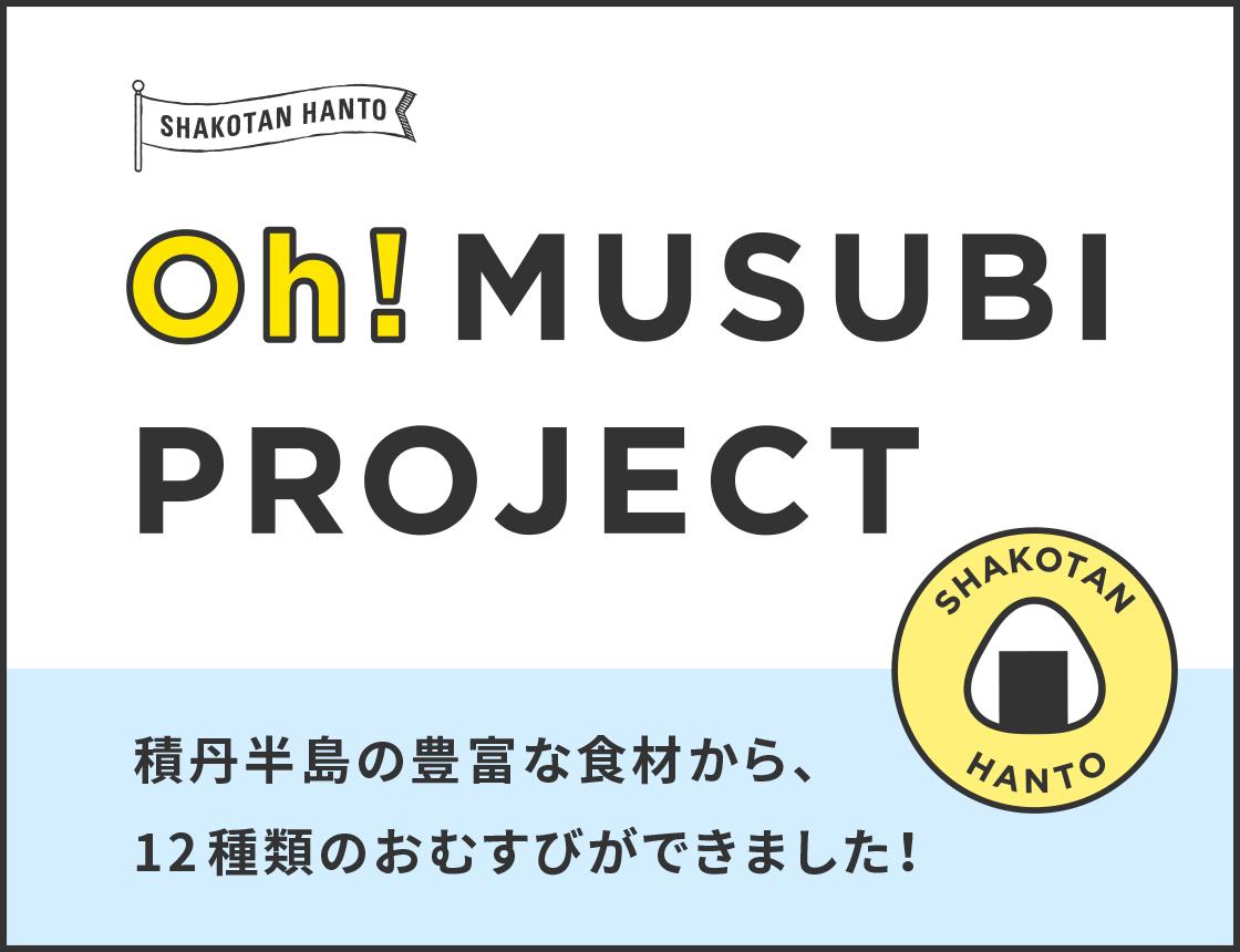 SHAKOTAN HANTO Oh!MUSUBI PROJECT - 積丹半島の豊富な食材から、12種類のおむすびができました!